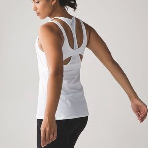 New Lululemon All Sport Support Tank Size 4 White